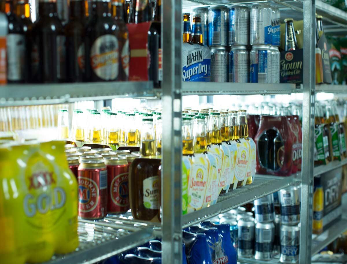 Westside hotel bottleshop fridge