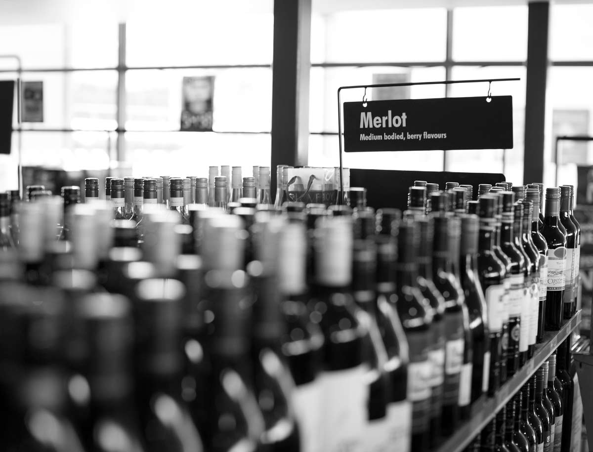 Extensive wine selection at Westside cellars